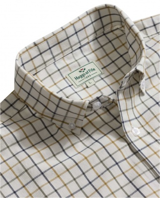 Hoggs of Fife - Berwick Cotton Short-Sleeve Tattersall Shirt