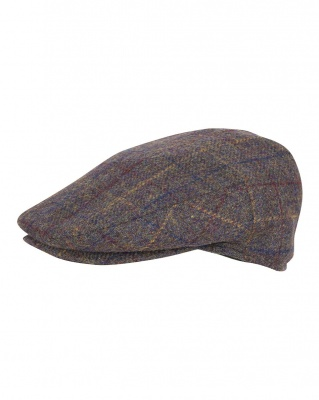 Jack Pyke Wool Blend Flat Cap - Brown Check