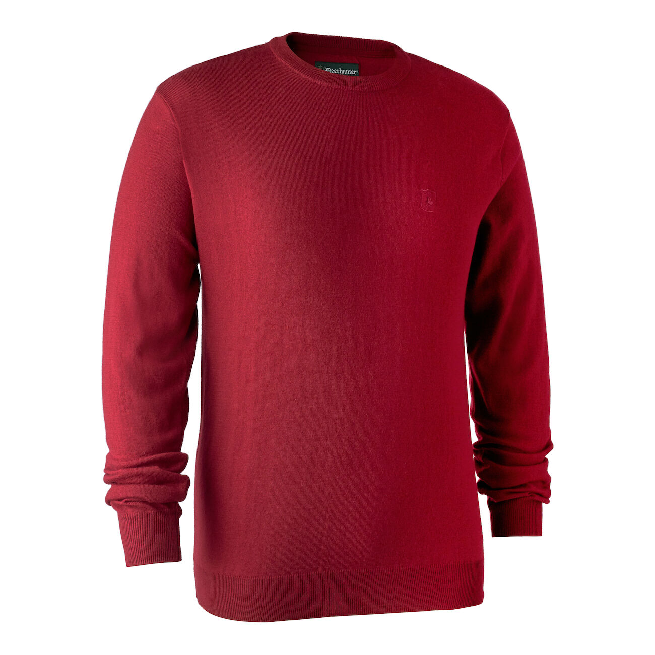 Deerhunter Kingston Knit with O-Neck - Red