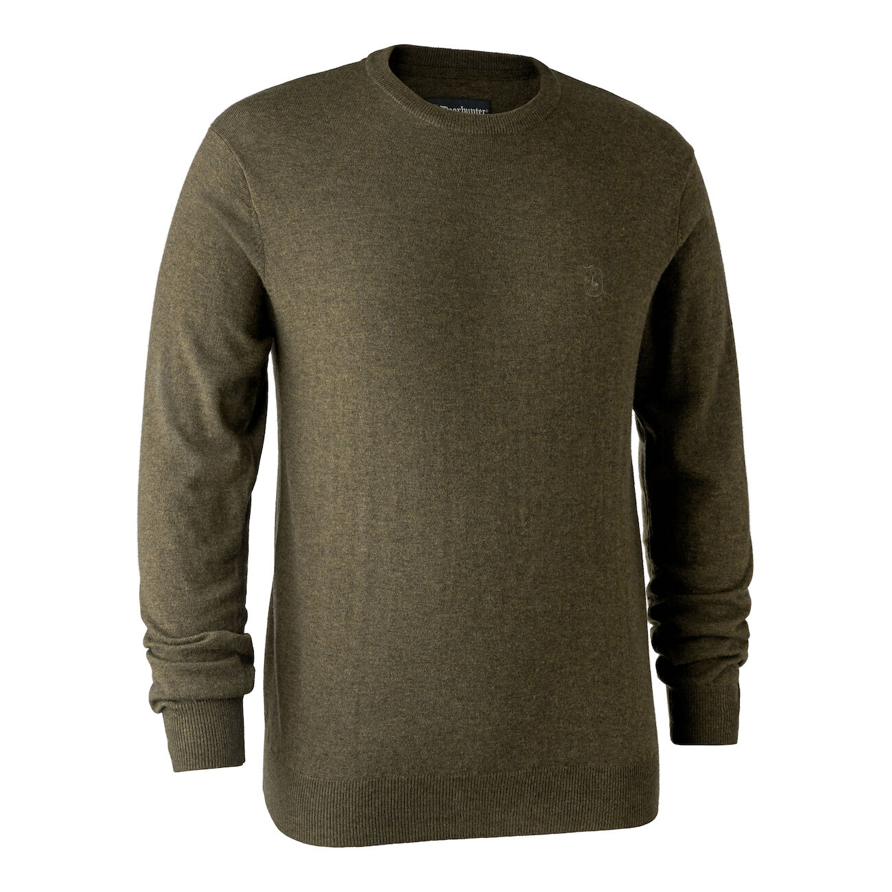 Deerhunter Kingston Knit with O-Neck - Cypress