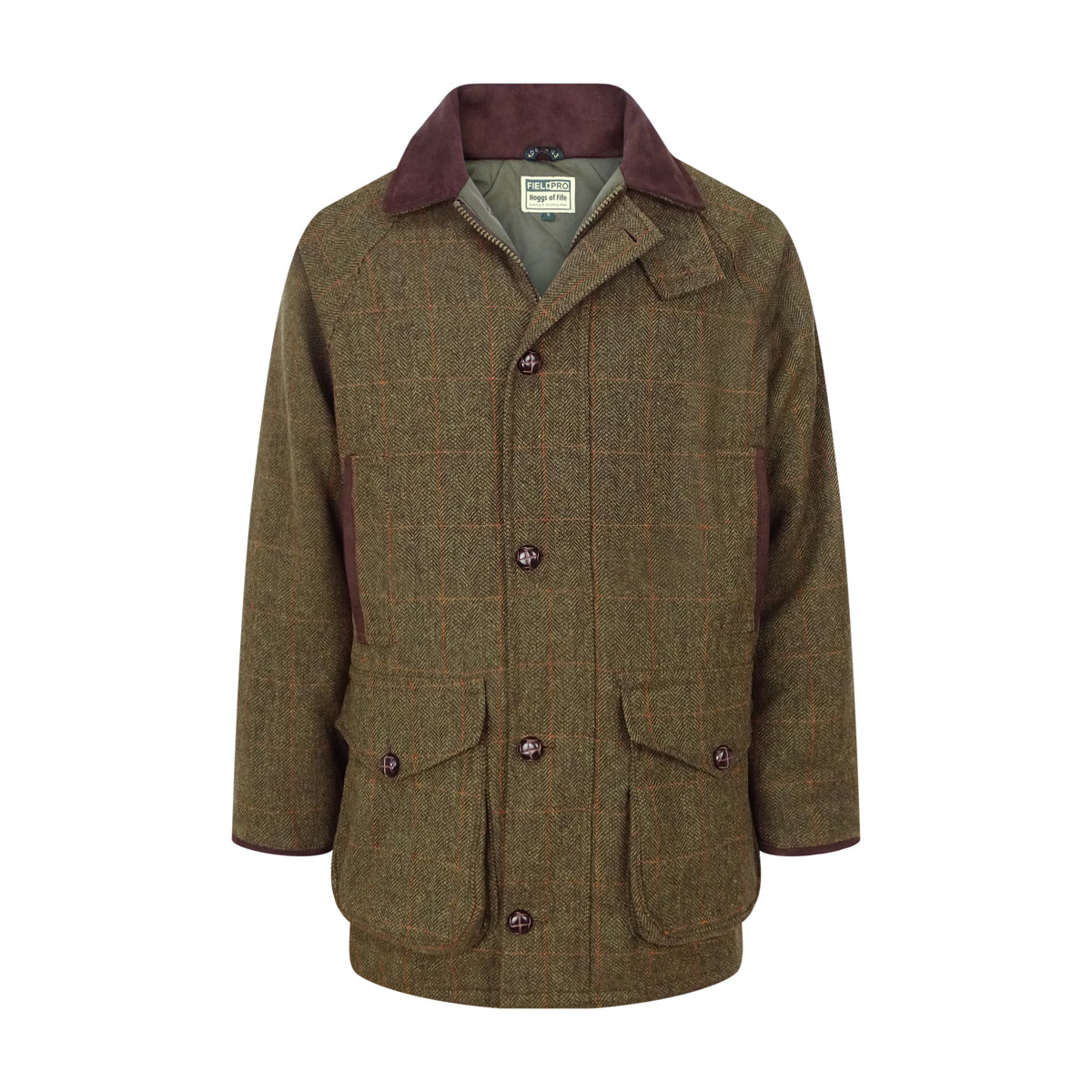 Hoggs of Fife Harewood Lambswool Tweed Waterproof Shooting Coat