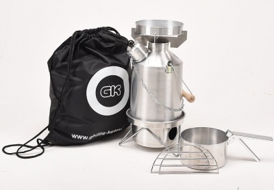 Ghillie Kettle Explorer and Cook Kit - Aluminium