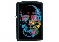 Zippo X-Ray Skull Black Matt Regular Lighter