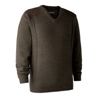 Deerhunter Sheffield Knit with V-Neck - Dark Elm