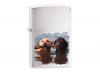 Zippo Labradors Brushed Chrome Regular Lighter