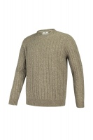 Hoggs of Fife Jedburgh Crew Neck Cable Pullover