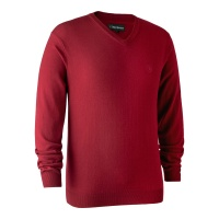 Deerhunter Kingston Knit with V-Neck - Red