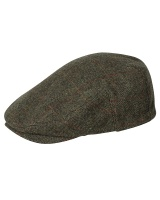 Hoggs of Fife Harewood Lambswool Tweed Waterproof Cap