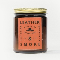 Bradley Mountain - Leather & Smoke Candle