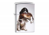 Zippo Springer Spaniel High Polish Chrome Regular Lighter
