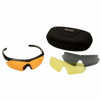 Deerhunter Shooting Glasses w. Replaceable Glasses - Black - One Size