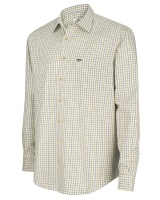 Hoggs of Fife Inverness Cotton Tattersall Shirt - Navy/Olive