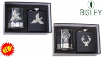 Bisley - Whisky Glass and Flask - Gift Set - Stag