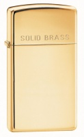 Zippo High Polish Brass Slim Lighter