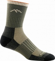 Darn Tough Hunter Micro Crew Midweight Hunting Sock - Forest