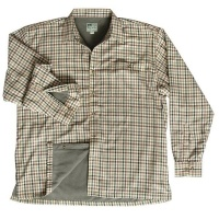 Hoggs of Fife - Bracken Micro Fleece Lined Shirt - Olive/Tan