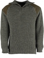 Niffi Exmoor Heavy Knit Quarter Zip Sweater - Derby Tweed