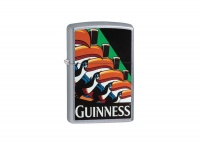 Zippo Guinness Toucan Street Chrome Regular Lighter