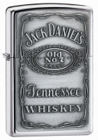 Zippo Jack Daniels - High Polish Chrome Regular Lighter