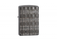 Zippo Decorative Pattern High Polish Black Ice Regular Lighter