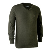 Deerhunter Kingston Knit with V-Neck - Green Melange