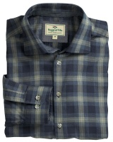 Hoggs Of Fife Angus Check Shirt - Navy/Beige