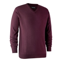 Deerhunter Kingston Knit with V-Neck - Burgundy