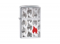 Zippo Zippo Flames High Polish Chrome Regular Lighter