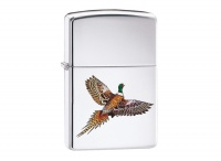 Zippo Pheasant High Polish Chrome Regular Lighter