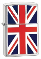 Zippo Union Jack Brushed Chrome Regular Lighter