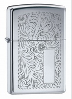 Zippo Venetian High Polish Chrome Regular Lighter