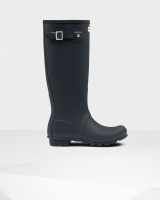 Hunter - Womens Original Tall Wellington Boots - Navy