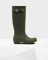 Hunter - Womens Original Tall Wellington Boots - Dark Olive