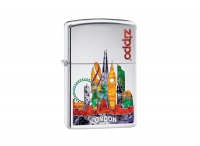 Zippo London High Polish Chrome Regular Lighter