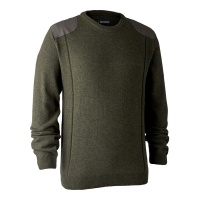 Deerhunter Sheffield Knit with O-Neck - Green Melange