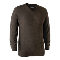 Deerhunter Kingston Knit with V-Neck - Dark Elm