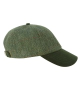 Hoggs Of Fife Helmsdale Green Tweed Baseball Cap - One Size