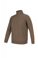 Hoggs of Fife Lothian 1/4 Zip Neck Pullover - Redwood