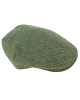 Hoggs Of Fife Helmsdale Green Tweed W/P Cap - One Size