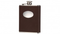David Nickerson - Leather 6oz Hip Flask - Brown