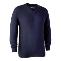 Deerhunter Kingston Knit with V-Neck - Dark Blue