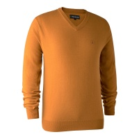 Deerhunter Kingston Knit with V-Neck - Golden Oak