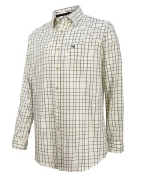 Hoggs Of Fife Balmoral Luxury Tattersall Shirt - Green/Brown