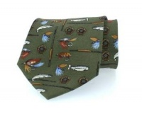Hoggs of Fife - Silk Country Tie - Angling Motif