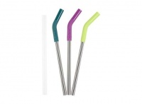 Klean Kanteen Stainless Steel Straw 3 Pack - 10mm - Mix Colours