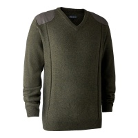 Deerhunter Sheffield Knit with V-Neck - Green Melange