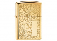 Zippo Venetian High Polish Brass Regular Lighter